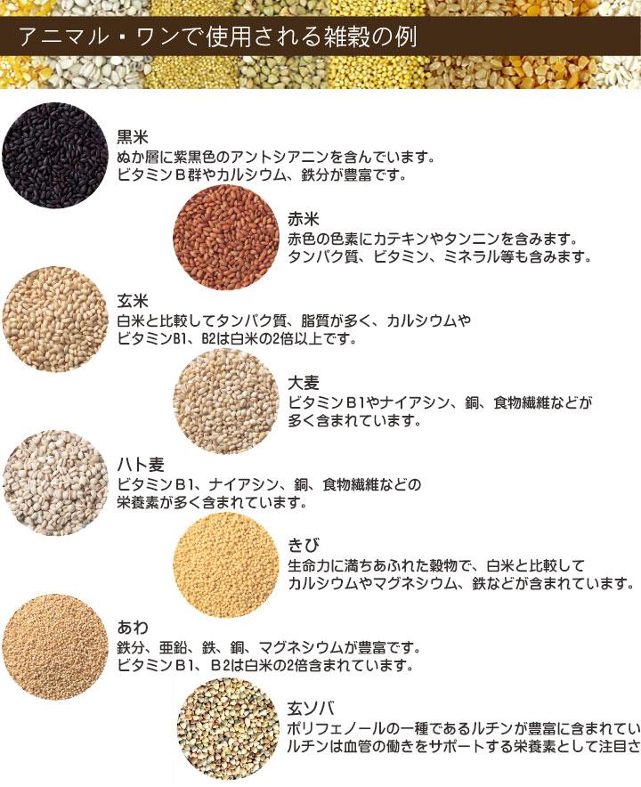 アニマル・ワンに使用する雑穀