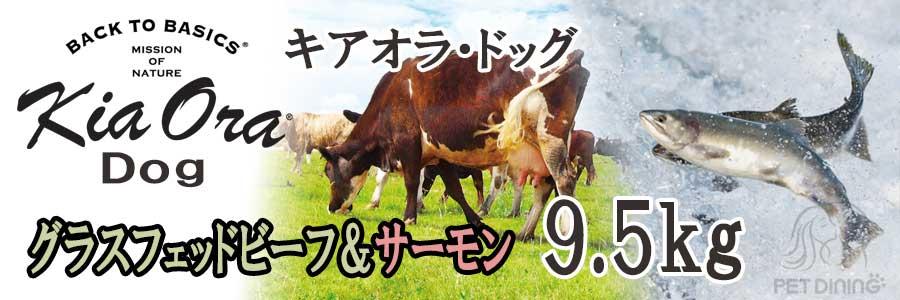 キアオラ グラスフェッドビーフ&サーモン 9.5kg
