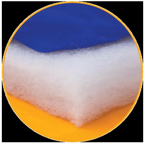リサイクルポリエステルの断熱素材