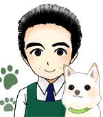 店長とスタッフ犬「珀(はく)」